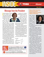 Inside York College Alumni Fall 2015 Newsletter