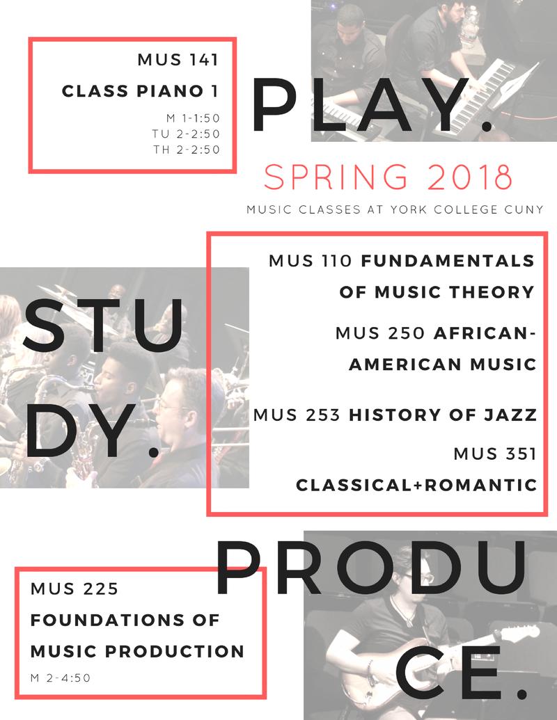 Spring 2018 Music Classes